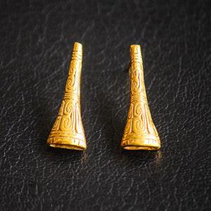 """Boucles d'oreilles """"Trompeta"""" (droites)"""